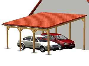 carports carport carporte vom garnuka carportwerk doppelcarport pultdach. Black Bedroom Furniture Sets. Home Design Ideas