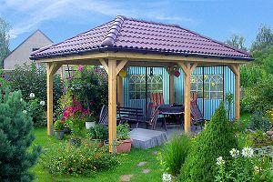 gartenpavillon aus holz vom garnuka carportwerk. Black Bedroom Furniture Sets. Home Design Ideas
